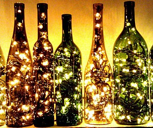 Recycled Wine Bottle Light