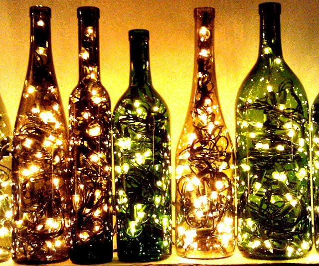 Recycled Wine Bottle Light