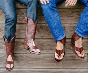 di prim'ordine brillantezza del colore nuovi speciali Redneck Boot Sandals