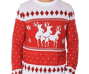 reindeer menage a trois sweater
