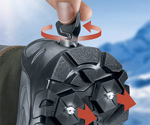 Retractable Spikes Snow Boots