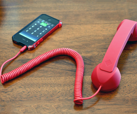 Old fashioned phone receiver for iphone 67