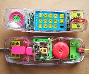 Retro Transparent Neon Phone