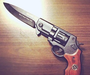 Revolver Gun Knife