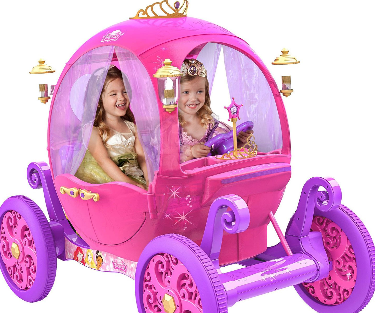 Rideable Disney Princess Pink Carriage - coolthings.us