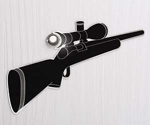 Sniper Rifle Peephole Decal