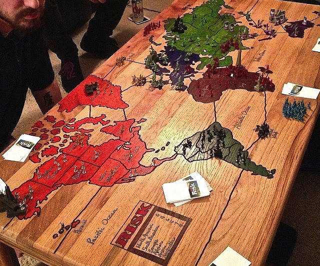 Risk Board Game Coffee Table