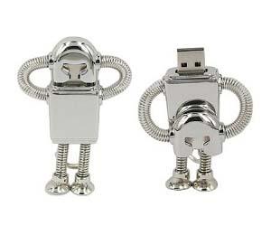 Metal Robot USB Thumb Drive