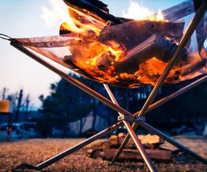 Collapsing Outdoor Firepit