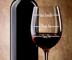 Easy Day/Rough Day Wine Glass