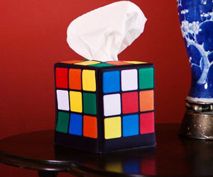 Rubik?s Cube Tissue Caddy