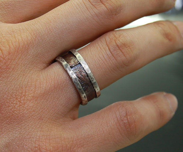 rustic mens wedding ring - Rustic Wedding Rings