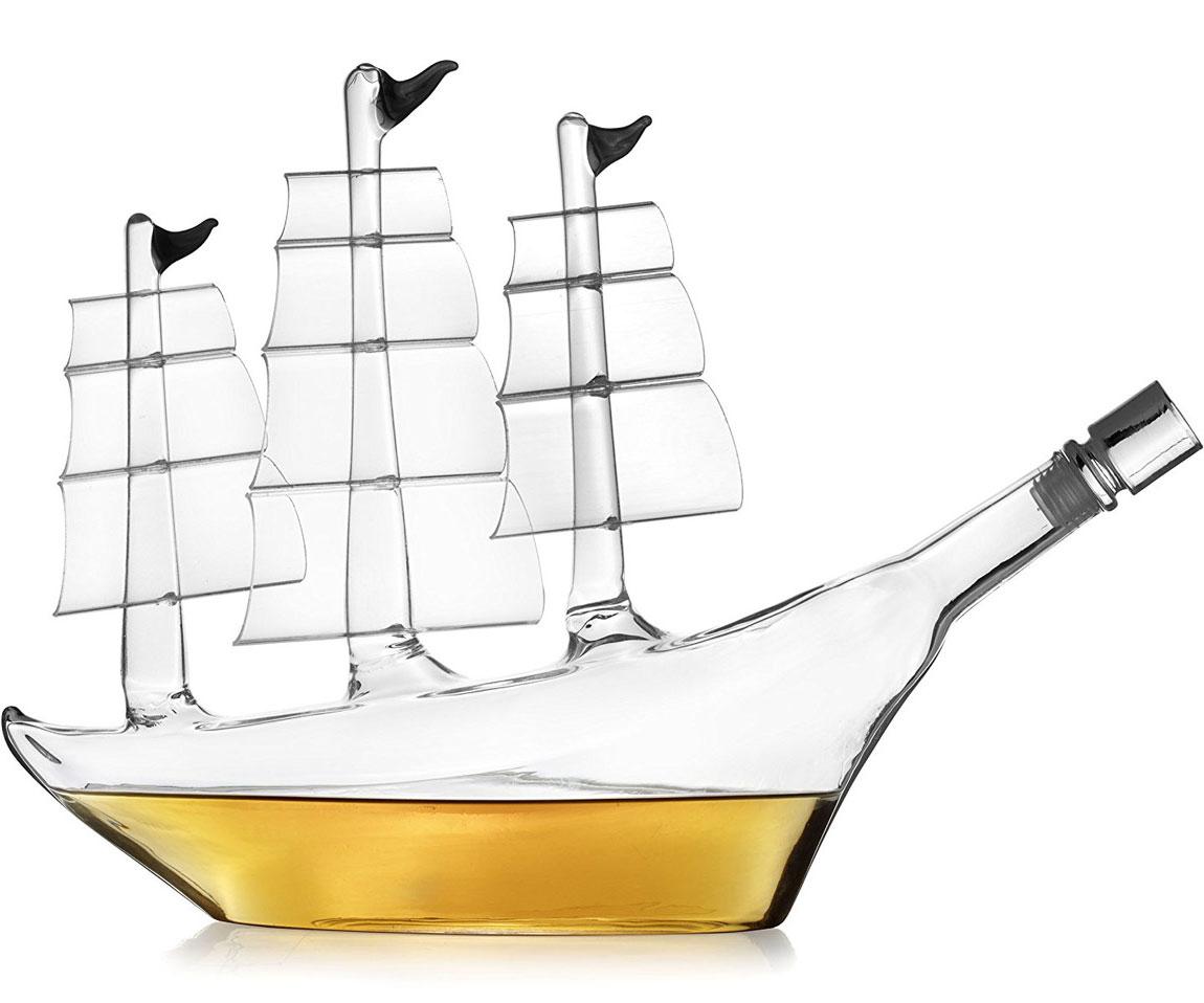 Antique Ship Whiskey Decanter
