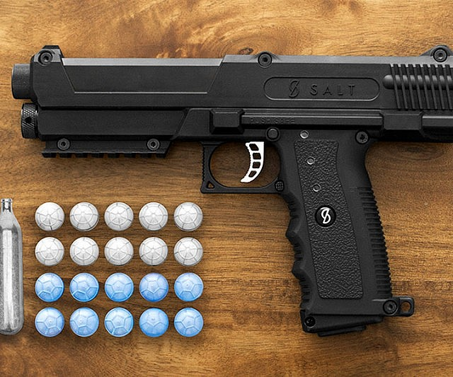 Non Lethal Salt Firing Self Defense Gun