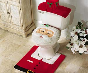 Santa Claus Toilet Cover