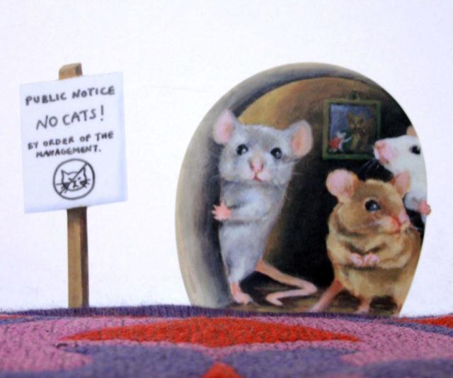 Fabulous Scaredy Mice Mousehole Wall Sticker