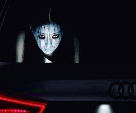 Scary High-Beam Reflective Decals