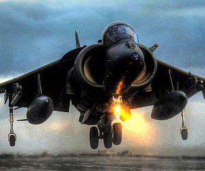 Sea Harrier Fighter Jet