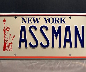 Seinfeld Kramer's Ass Man License Plate