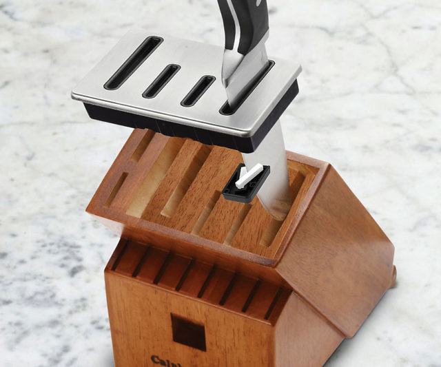sharpening knife block