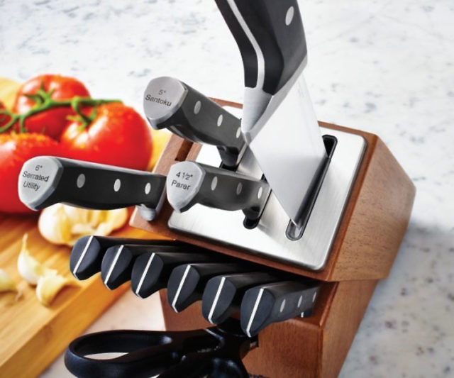 Self Sharpening Knife Block