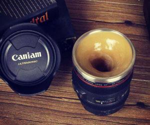 Self Stirring Camera Lens Mug
