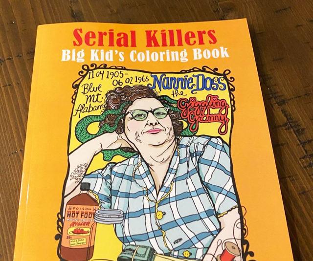 Serial Killers Adult Coloring Book