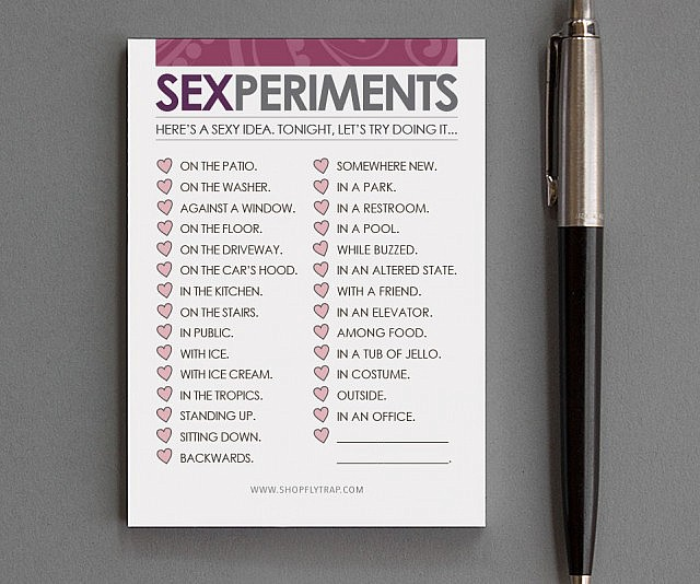 Experimental Sex Card