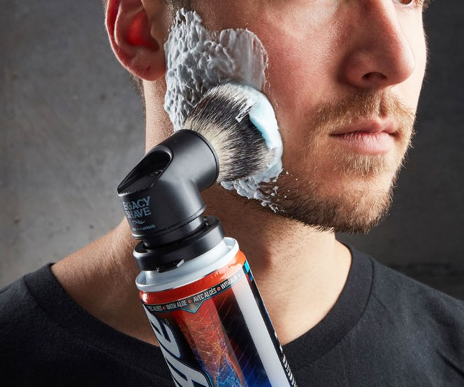Shaving Cream Can Brush Adapter - coolthings.us