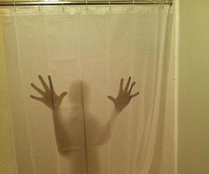 Shadowy Figure Shower Curtain