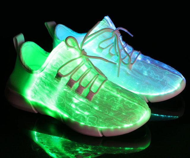 fibre optic led shoes