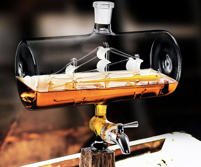 Ship In A Bottle Whiskey Dispenser - coolthings.us