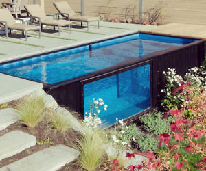 diy shipping container pool diy do it your self. Black Bedroom Furniture Sets. Home Design Ideas