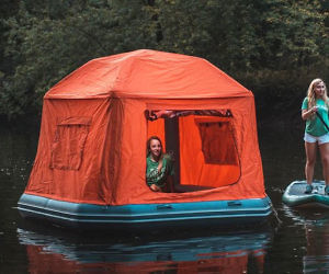 Floating Raft Tent & Air Fort Inflatable Tent