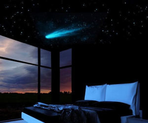 Glow In The Dark Shooting Star Decal