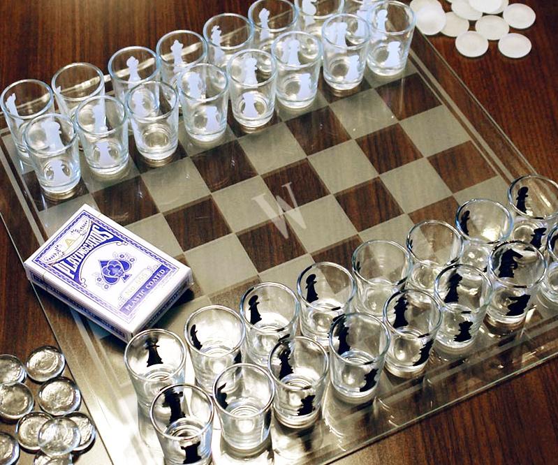 Shotglass Chess Game
