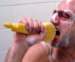Shower Sponge Microphone