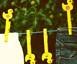 Duck Target Clothes Pegs