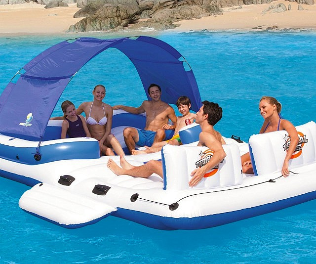1. Six Person Floating Island   $189.99