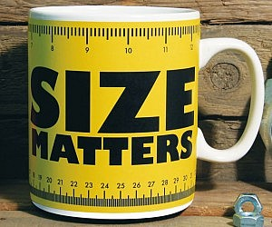 Size Matters Large Coffee Mug