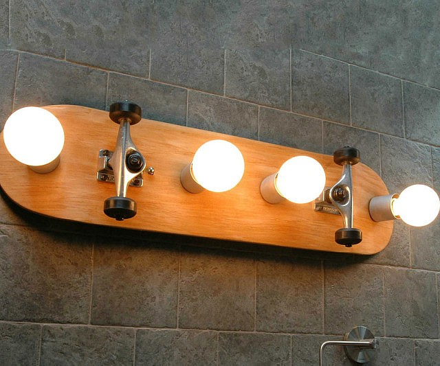 Skateboard Vanity Light