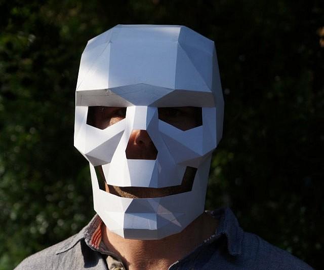 Cardboard skull mask maxwellsz