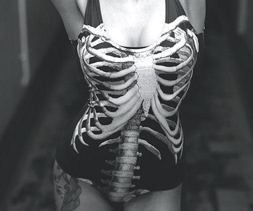 Skeleton Swim Suit