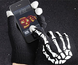 Skeleton Touch Screen Gloves
