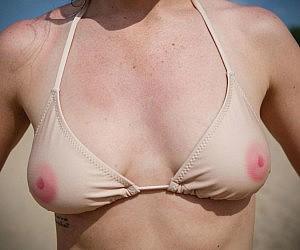 Skin Tone Nipples Bikini Top