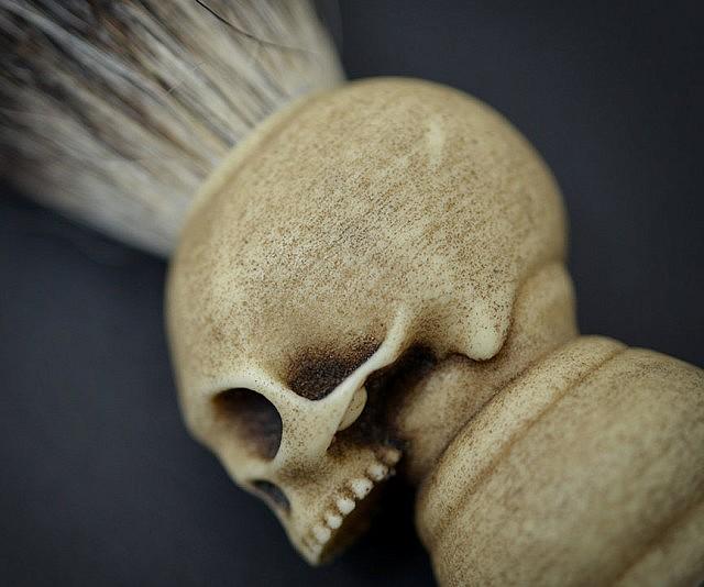 skull shaving brush