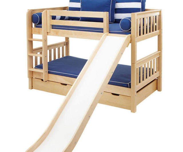 Beautiful Slide Down Bunk Bed