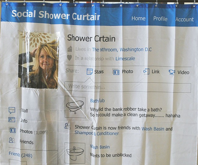 Facebook Profile Shower Curtain