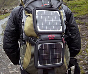 Solar Powered Backpack Charger