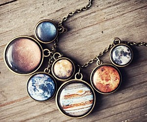 Solar System Planet Necklace